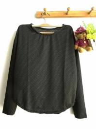 Black Glittery Top - ecer@56rb - spandex glitter - fit to L