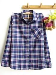 Mexico Tartan Shirt (navy) - ecer@83rb - seri4w 312rb - flanel - fit to L