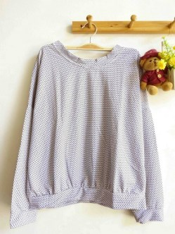 Mini Dotty Pullover(White) - ecer@57rb - seri3w 156rb - bahan Spandex Dotty (bahan unik & bagus) - fit to XL