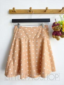 Polka Skirt Pants (milo) - ecer@61rb - bahan Wedges Tebal + Furing bentuk celana + Pinggang Karet - fit to XL