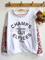 Champs Oui Pullover (cream) - ecer@68rb - seri4w 252rb - babyterry+wedges - fit to XL