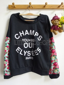 Champs Oui Pullover (tosca) - ecer@68rb - seri4w 252rb - babyterry+wedges - fit to XL