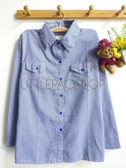 Cotton Candy Plaid Shirt (blue) - ecer@65rb - seri4w 240rb -katun bangkok - fit to L