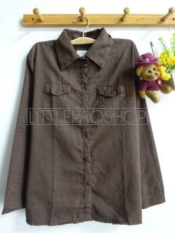 Cotton Candy Plaid Shirt (brown) - ecer@65rb - seri4w 240rb -katun bangkok - fit to L
