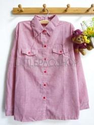 Cotton Candy Plaid Shirt (red) - ecer@65rb - seri4w 240rb -katun bangkok - fit to L