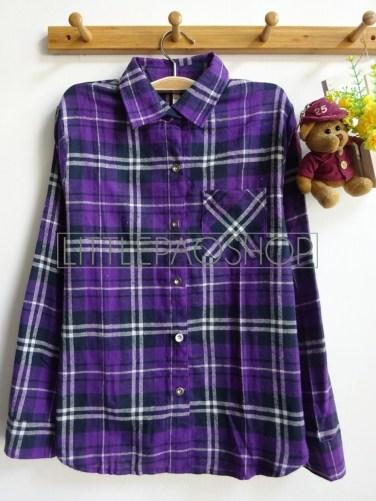 Festive Plaid Shirt (purple) - ecer@83rb - seri3w 234rb - flanel - fit to L