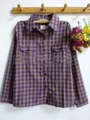 Uncle Jack Plaid Shirt (purple) - ecer@65rb - seri4w 240rb -katun bangkok - fit to L
