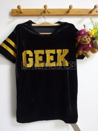 Velvet GEEK Top (black) - ecer@56rb - seri4w 204rb - bludru+glitter - fit to L