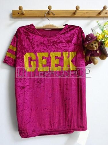 Velvet GEEK Top (red) - ecer@56rb - seri4w 204rb - bludru+glitter - fit to L