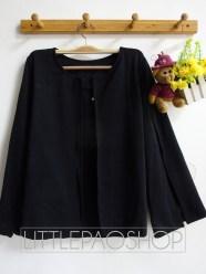 Blogger Cape Blazer (black) - ecer@75rb - seri4warna 280rb - premium wedges - fit to L