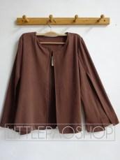 Blogger Cape Blazer (brown) - ecer@75rb - seri4warna 280rb - premium wedges - fit to L