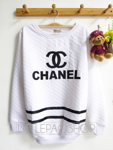 Chanel Pillow Sweater (white) - ecer@65rb - seri3w 180rb - wedges pillow - fit to XL