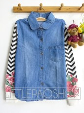 Flower & Arrow Jacket (dark) - ecer@83rb - seri4pcs(2warna) 312rb - jeans+babyterry - fit to L