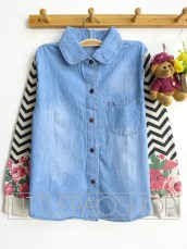 Flower & Arrow Jacket (light) - ecer@83rb - seri4pcs(2warna) 312rb - jeans+babyterry - fit to L