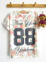 [IMPORT] 88 Yankees Femme Top - ecer@52rb - seri3pcs 141rb - jersey - fit to L