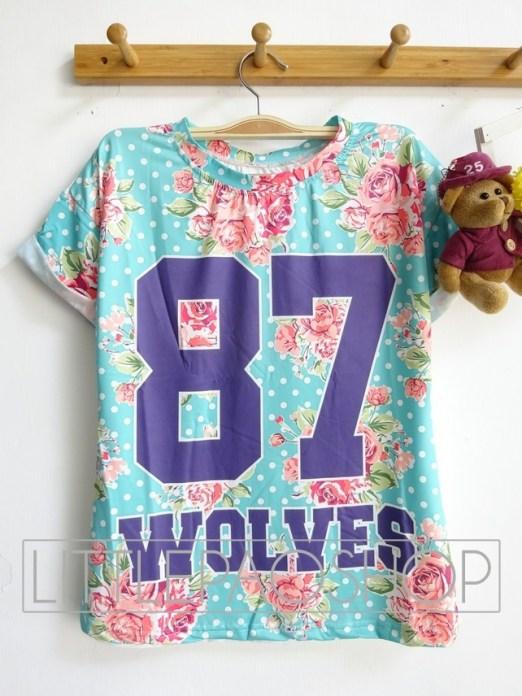 [IMPORT] Florist Wolves Top - ecer@52rb - seri3pcs 141rb - jersey - fit to L