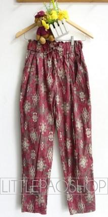 Kintamani Comfy Pants (red) - ecer@68rb - seri4w 252rb - katun stretch tebal - fit to ukuran 30