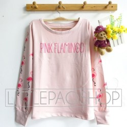 Pink Flamingo Sweatshirt - ecer@66rb - seri4w 244rb - babyterry - fit to L