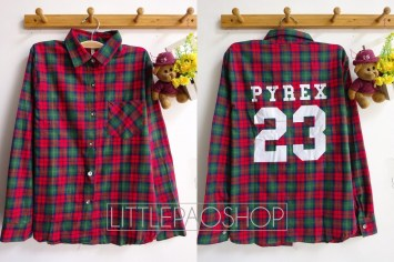 PYREX23 Flannel Shirt (red) - ecer@85rb - seri4pcs(2green 2red) 320rb - flannel tebal - fit to L