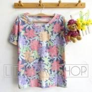 Ripped Flowery Shirt - ecer@60rb - seri4pcs(2warna) 220rb - katun import - fit to L