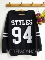 STYLES 94 Baseball Sweater (black) - ecer@55rb - seri4pcs(2black 2white) 200rb - babyterry - fit to L