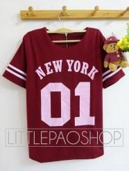01 NEWYORK Baseball Top (red) - ecer@68rb - seri4w 2525rb - wedges prada - fit to L