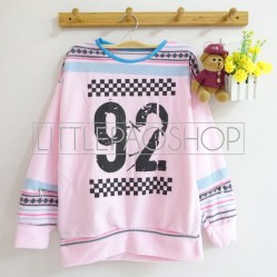 92 Rally Sweater (pink) - ecer@60rb - seri4w 220rb - katun wol tebal - fit to L