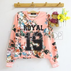 IMPORT - 19 Royal Flowery Top (pink) - ecer@90rb - seri3w 255rb - wedges print - fit to L