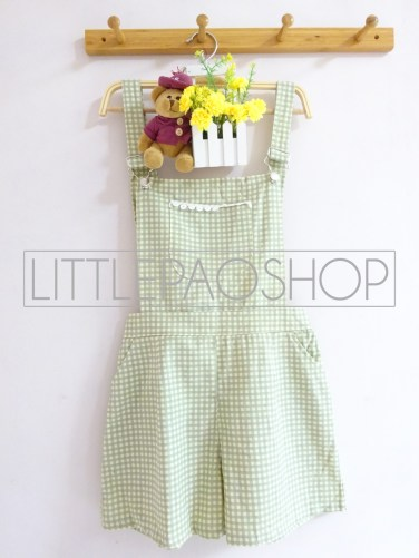 IMPORT - Kimiko Dungaree (green) - ecer@115rb - seri3motif 330rb - katun tebal - fit to L