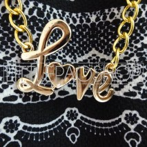 IMPORT - Tribal LOVE Necklace Sweater Detail