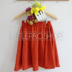 Lovely Bianca Emboss Skirt (Coral) - ecer@70rb -wedges emboss+full karet - fit to L