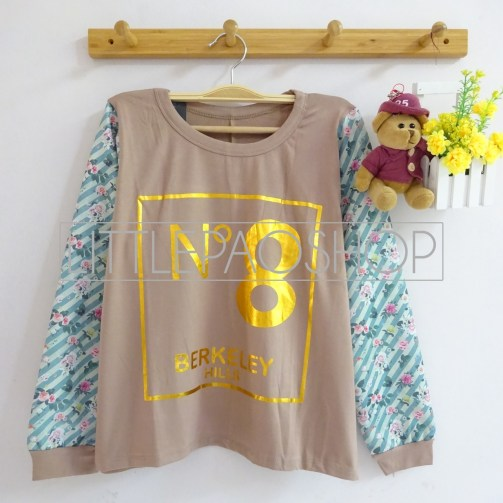 No.8 BerkHills Top (choco) - ecer@60rb - seri4w 220rb - spandex + wedges - fit to L