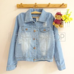 Ripped Ombre Jacket - ecer@91rb - seri4pcs 344rb - jeans tebal - fit to L