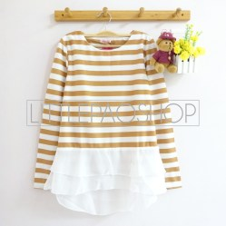 Stripey Candy Top (choco) - ecer@78rb - seri4w 292rb - wedges + ceruti - fit to L