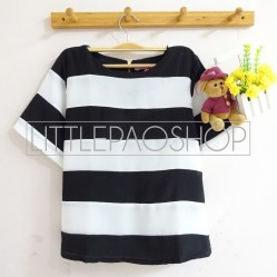 Biggie Stripe Top (A) - ecer@66rb - seri4pcs(2A2B) 244rb - twistcone - fit to L