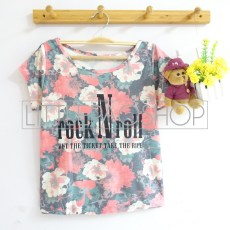 Flowery Rock N Roll (red) - ecer@58rb - seri3w 159rb - katun - fit to L