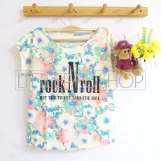 Flowery Rock N Roll (yellow) - ecer@58rb - seri3w 159rb - katun - fit to L