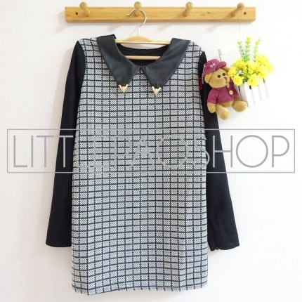 [IMPORT] Elliot Top - ecer@80rb - seri4pcs 300rb - tweed wol + leather + crepe - fit to L