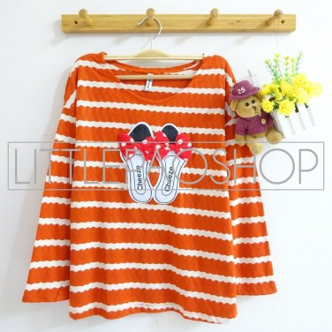 [IMPORT] My Ribbon Sandals Top (Orange) - ecer@79rb - seri6w 444rb - brocade - fit to L