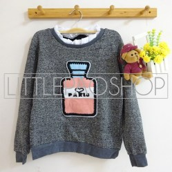 [IMPORT] Perfume Vintage Sweater (grey) - ecer@80rb - seri4w 300rb - rajut - fit to L