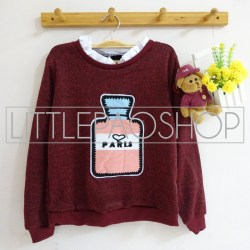 [IMPORT] Perfume Vintage Sweater (maroon) - ecer@80rb - seri4w 300rb - rajut - fit to L