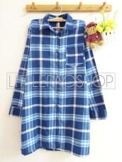 Orin Long Shirt (blue) - ecer@90rb - seri4w 340rb - flanel - fit to XL (bisa dipakai sebagai outer)
