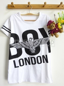 Big Boy London Tee (white) - ecer@40rb - kaos - fit to L