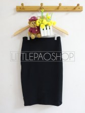 Black Pencil Midi Skirt - ecer@65rb - wedges - fit to L