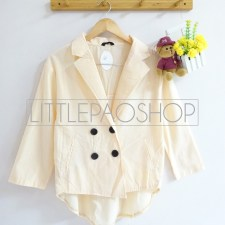 Cambridge HiLo Coat (Cream) - ecer@70rb - seri4w 260rb - katunbangkok - fit to L