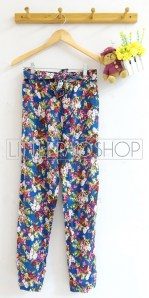 Flowy Comfy Pants (blue) - ecer@65rb - seri4w 240rb - katun rayon - fit to L