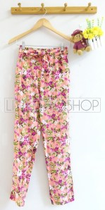 Flowy Comfy Pants (pink) - ecer@65rb - seri4w 240rb - katun rayon - fit to L
