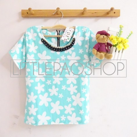 Hawaiian Necklace Top (tosca) - ecer@58rb - seri4w 212rb - wedges tekstur+kalung - fit to L