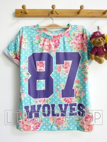 [IMPORT] Florist Wolves Top - ecer@52rb - seri3pcs 141rb - jersey - fit to L