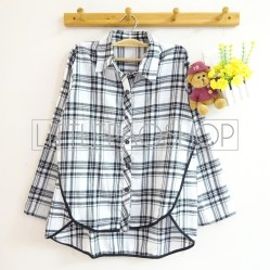 Naomi Loose Flannel Shirt (white) - ecer@85rb - seri4w 320rb - flannel - fit to L
